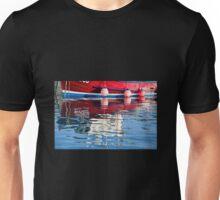 Lyme Regis Harbour Reflections 2 - April Unisex T-Shirt