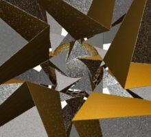 'TetraStar (gold/silver)' Sticker