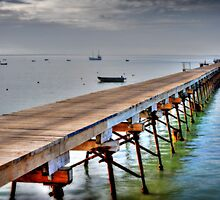 Beachport Jetty at Daybreak by Gavin  Male