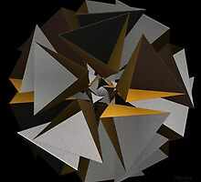'TetraStar (gold/silver)' by Scott Bricker