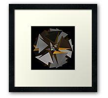 'TetraStar (gold/silver)' Framed Print