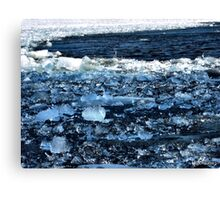 Ottawa River Ice in April Canvas Print