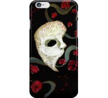 Phantom of the Opera Mask and Roses iPhone Case/Skin