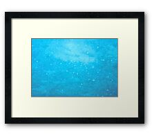 Abstract Blue Mosaic Background Framed Print