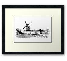 Mill House Lane Framed Print