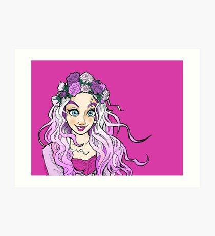Pink 'n' Purple Nymphette Art Print