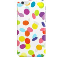 Joyful flying сonfetti on white. Design for a party. iPhone Case/Skin
