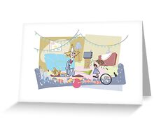 Brat Greeting Card