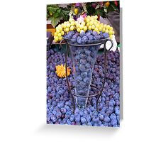 Fruit stand on Rue Montorgueil Greeting Card