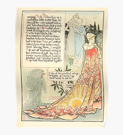 A Masque of Days - From the Last Essays of Elia 1901 illustrated by Walter Crane 47 - Ash Wednesday, Longest Day, Valentine, May, Lover's Day Poster
