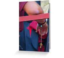 Penitent with rosary Greeting Card