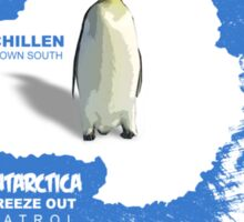 chillen in antartica Sticker