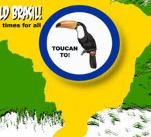 toucan can Sticker
