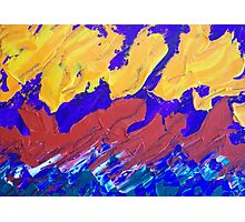Abstract Creative Fire with Many Colors Photographic Print
