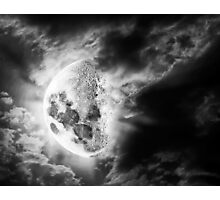 Surreal Moon Photographic Print