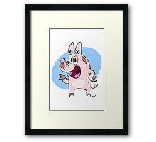 Pig! Framed Print