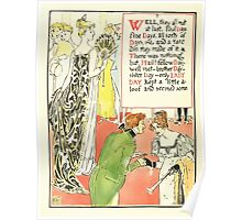 A Masque of Days - From the Last Essays of Elia 1901 illustrated by Walter Crane 14 - Fellow Brother Sister Lady Day Poster