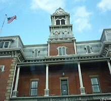 Medina County Court House- Straight Up! by Bea Godbee
