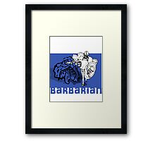 the barbarian slayer Framed Print