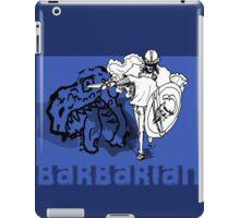 the barbarian slayer iPad Case/Skin
