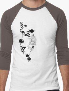 songbird tee  Men's Baseball ¾ T-Shirt