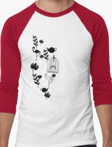 songbird tee  Men's Baseball ¾ T-Shirt
