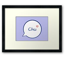 CHU - LIGHT BLUE Framed Print