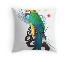 Macau Splatter Throw Pillow