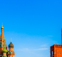 Red Square of Moscow Sticker