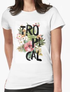 Tropical I Womens Fitted T-Shirt