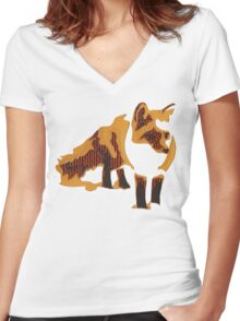 Fox Confessor. Women's Fitted V-Neck T-Shirt
