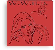 W.W.H.D. - What Would Hermione Do? Canvas Print