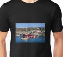 Lyme Regis Harbour Reflections 3 - April Unisex T-Shirt