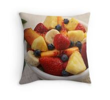Summer Fruit Bowl Throw Pillow