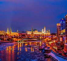 Moscow Kremlin Illuminated by luckypixel