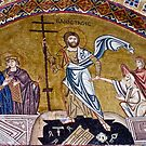 Resurrection of Jesus, 11th century mosaic, Greece by airphoto-gr