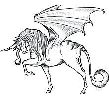 Dragon Wing Unicorn Photographic Print