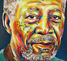 Morgan Freeman portraits by benova