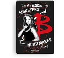 BUFFY: NIGHTMARES Canvas Print