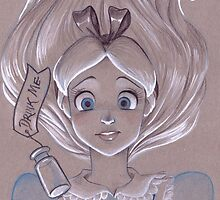 Toned Paper Alice by CherryGarcia