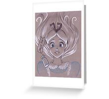 Toned Paper Alice Greeting Card