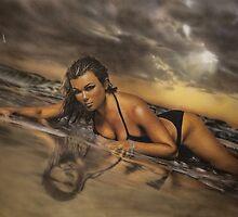 Airbrush Portrait - Nell McAndrew by Janne Flinck
