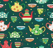 Tea pattern by JuliaBadeeva