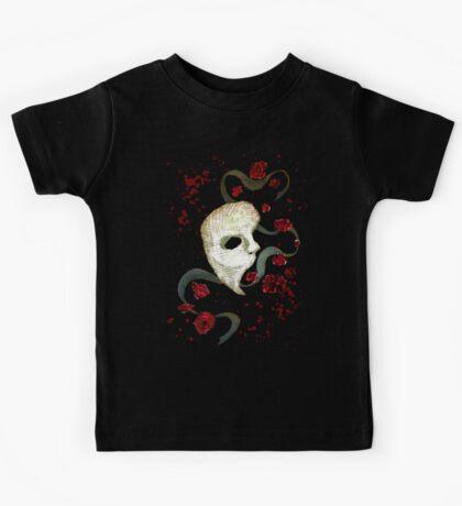 Phantom of the Opera Mask and Roses Kids Tee