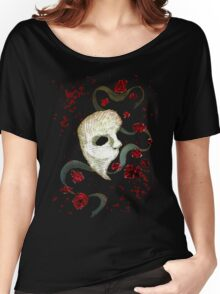 Phantom of the Opera Mask and Roses Women's Relaxed Fit T-Shirt