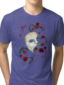 Phantom of the Opera Mask and Roses Tri-blend T-Shirt