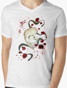 Phantom of the Opera Mask and Roses Mens V-Neck T-Shirt