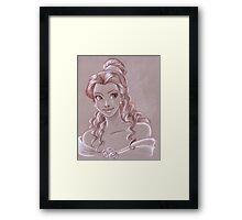 Toned Paper Belle Framed Print