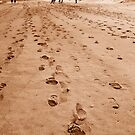 Alot of footprints by oddoutlet