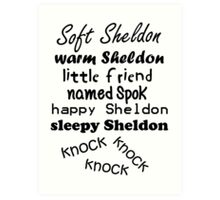 Soft Sheldon, Warm Sheldon Art Print